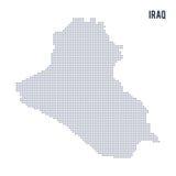 El vector punteó el mapa de Iraq aisló en el fondo blanco Foto de archivo libre de regalías