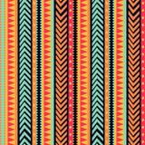 El vector raya el modelo textura tribal, ornamento colorido ilustración del vector
