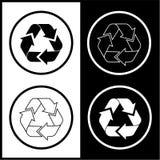 El vector recicla iconos Imágenes de archivo libres de regalías