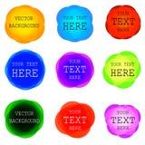 El VECTOR redondeó los marcos coloridos fijados Foto de archivo libre de regalías