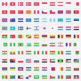 El vector señala iconos por medio de una bandera Imágenes de archivo libres de regalías