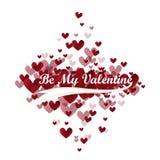 El vector sea mi tarjeta del día de San Valentín Foto de archivo