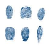 El vector toma las huellas dactilares policía Fotos de archivo libres de regalías