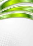 El vector verde claro agita diseño del grunge Fotografía de archivo libre de regalías