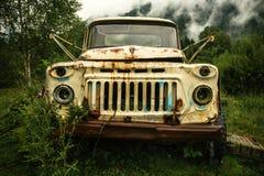 El vehículo abandonado agarró la naturaleza Imagen de archivo libre de regalías