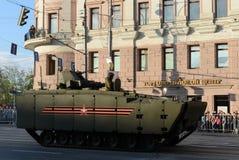 El vehículo de combate de la infantería en base de un medio prometedor de la plataforma siguió Kurganets-25 Foto de archivo libre de regalías