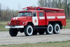 El vehículo de rescate del fuego del aeródromo Imagen de archivo libre de regalías