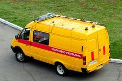 El vehículo del operativo-rescate del aeródromo Fotos de archivo