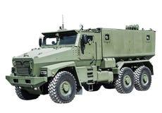 El vehículo ligero blindado aumentó la seguridad para el transporte Imagen de archivo