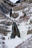El velo nupcial baja barranca Utah de Provo fotografía de archivo