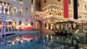 El veneciano en la noche - Las Vegas Fotografía de archivo libre de regalías