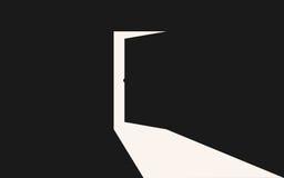 El venir ligero adentro a través de puerta de abertura libre illustration