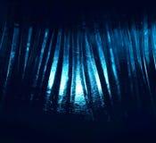 El venir ligero azul con formaciones de hielo Imágenes de archivo libres de regalías