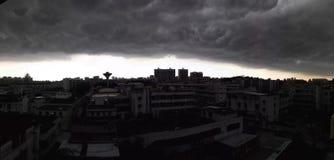 El venir pesado de la precipitación Fotografía de archivo libre de regalías