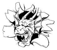 El venir principal del dragón a través de la pared Imagen de archivo libre de regalías