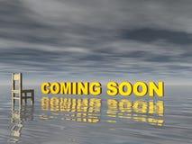 El venir pronto Foto de archivo libre de regalías