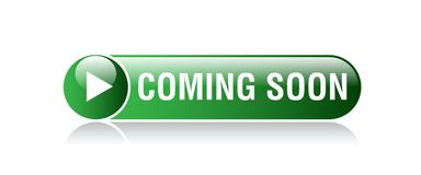 El venir pronto botón libre illustration