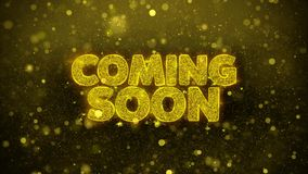 El venir pronto desea la tarjeta de felicitaciones, invitación, fuego artificial de la celebración