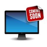 El venir pronto en la pantalla Imagenes de archivo