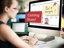 El venir pronto haciendo publicidad de concepto de la muestra de Annoucement Imagen de archivo libre de regalías