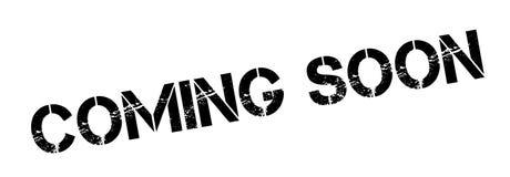 El venir pronto sello de goma stock de ilustración