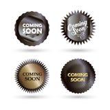 El venir pronto sistema aislado botones de la muestra stock de ilustración