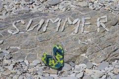 El verano de la palabra de las piedras Fotos de archivo