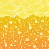 El verano de la puesta del sol riega el fondo ilustración del vector