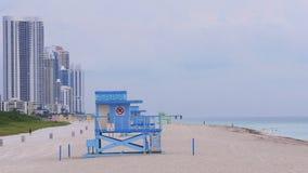 El verano de Miami que iguala las islas soleadas vara el panorama 4k la Florida los E.E.U.U. metrajes