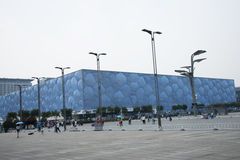 El verano 2008 de Pekín el estadio Olímpico, el centro de natación nacional, Imágenes de archivo libres de regalías