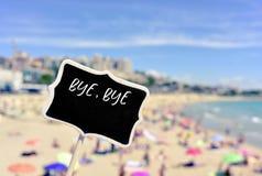 El verano del adiós del texto en un letrero metrajes