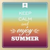 El verano retro vacations cartel Imágenes de archivo libres de regalías