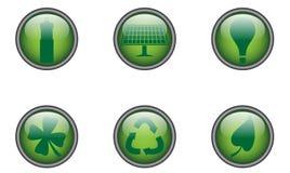 El verde abotona alrededor Imagen de archivo