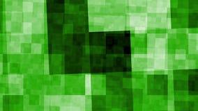 El verde abstracto de HD cubica el 2.o animztion del fondo movimientos almacen de metraje de vídeo