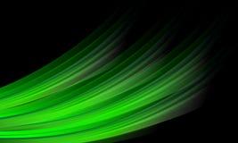El verde abstracto del vector sombreó el fondo ondulado con el efecto luminoso, liso, curva, ejemplo del vector stock de ilustración