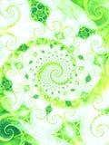 El verde agradable deja a vides espiral ilustración del vector