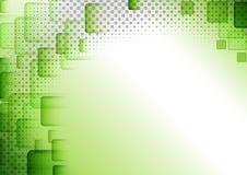 El verde ajustó el fondo abstracto stock de ilustración