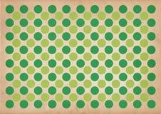 El verde circunda el fondo retro del modelo Foto de archivo libre de regalías