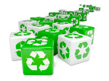 el verde 3d recicla dados Foto de archivo