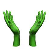 El verde da concepto de la protección ilustración del vector