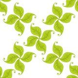El verde deja el modelo inconsútil Diseño del vector Fotos de archivo libres de regalías