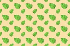 El verde deja el fondo inconsútil del modelo Imagen de archivo libre de regalías