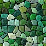 El verde esmeralda oscuro coloreó el fondo inconsútil de mosaico de la textura pedregosa plástica irregular de mármol abstracta d ilustración del vector