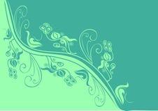 El verde florece el fondo Imagen de archivo