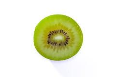 El verde fresco de Kiwi Slice Half Cut Fruit siembra la textura radial Detai Fotos de archivo