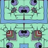 El verde hace frente - a la historieta divertida ilustración del vector