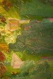 El verde pintó el fondo Foto de archivo libre de regalías