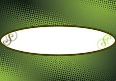 El verde puntea el fondo del copyspace Fotografía de archivo libre de regalías