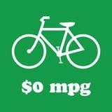 El verde que va, monta una bici Imagen de archivo libre de regalías