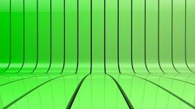 El verde raya el fondo de la pendiente Stock de ilustración